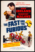 "Movie Posters:Action, The Fast and the Furious (American Releasing Corp., 1954). OneSheet (27"" X 41""). Action.. ..."