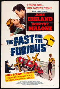 """The Fast and the Furious (American Releasing Corp., 1954). One Sheet (27"""" X 41""""). Action"""