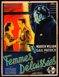 "Movie Posters:Crime, Wives Under Suspicion (Universal, 1938). French Affiche (23.5"" X31.5""). Crime.. ..."