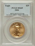 Modern Bullion Coins, 2004 G$25 Half-Ounce Gold Eagle MS69 PCGS. PCGS Population(31622/873). NGC Census: (7505/2619). Numismedia Wsl. Price for...
