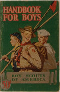 Books:Americana & American History, Boy Scouts of America. Handbook for Boys. Boy Scouts ofAmerica, 1940. 34th printing. Publisher's stiff wrappers wit...