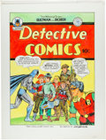 Original Comic Art:Covers, Joe Simon Detective Comics #65 Cover Recreation Original Art(c. 1980s)....