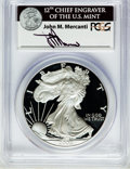Modern Bullion Coins, 2002-W $1 Silver Eagle PR70 Deep Cameo PCGS. Ex: Signature of JohnM. Mercanti, 12th Chief Engraver of the U.S. Mint. PCGS ...