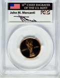 Modern Issues, 1994-W G$5 World Cup Gold Five Dollar PR69 Deep Cameo PCGS. Ex:Signature of John M. Mercanti, 12th Chief Engraver of the U...
