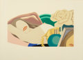 Prints:Contemporary, TOM WESSELMANN (American, 1931-2004). Nude with Rose, 1976.Screenprint in colors with embossing. 13-3/8 x 23-5/8 inches...