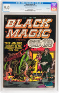 Golden Age (1938-1955):Horror, Black Magic #8 Bethlehem pedigree (Prize, 1951) CGC VF/NM 9.0 Creamto off-white pages....