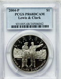 Modern Issues, 2004-P $1 Lewis and Clark Silver Dollar PR68 Deep Cameo PCGS. PCGSPopulation (155/5249). NGC Census: (58/5300). Numismedi...