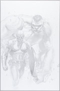Original Comic Art:Covers, Gabriele Dell'Otto Ultimate Origins #5A Captain America andHulk Pencil Cover Original Art (Marvel, 2008)....