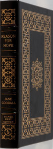 Books:Biography & Memoir, Jane Goodall. SIGNED/LIMITED. Reason for Hope. Easton Press,1999. First edition, first printing. Limited to 1400 ...