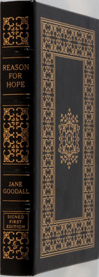 Jane Goodall. SIGNED/LIMITED. Reason for Hope. Easton Press, 1999. First edition, first printin