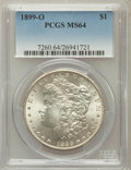 Morgan Dollars: , 1899-O $1 MS64 PCGS. PCGS Population (21169/8530). NGC Census:(23234/8568). Mintage: 12,290,000. Numismedia Wsl. Price for...