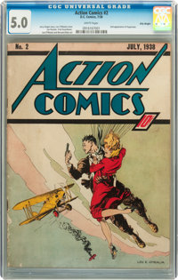 Action Comics #2 Billy Wright pedigree (DC, 1938) CGC VG/FN 5.0 White pages