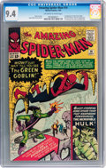 Silver Age (1956-1969):Superhero, The Amazing Spider-Man #14 (Marvel, 1964) CGC NM 9.4 Off-white towhite pages....