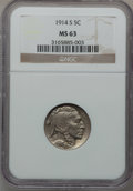 Buffalo Nickels: , 1914-S 5C MS63 NGC. NGC Census: (267/470). PCGS Population(410/556). Mintage: 3,470,000. Numismedia Wsl. Price for problem...