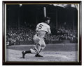 Autographs:Photos, Joe DiMaggio Signed Photograph. It was just over 65 years ago thatJoe DiMaggio let loose a 56-game hitting streak that sti...