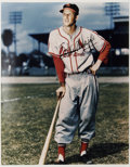 """Autographs:Photos, Stan Musial Signed Oversized Photograph. Massive (16x20"""") fullcolor image features the long-time HOF Cardinals great Stan ..."""