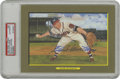 Autographs:Post Cards, 1988 Perez-Steele Great Moments Signed Eddie Mathews Postcard, PSAAuthentic. Sealed in one of PSA's protective holders, we...