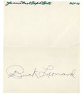 """Autographs:Others, Negro League Autographs Lot of 4. Fine assortment of signatures from this historic """"other league"""" features: 1) Cool Papa Be..."""