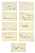 Autographs:Index Cards, Negro League Hall of Famers Signed Index Cards Lot of 9. As the legend of this underappreciated League grows, so shall the ...