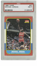 Basketball Cards:Singles (1980-Now), 1986 Fleer Michael Jordan #57 PSA NM 7. Here we offer the coveted rookie card of perhaps the most exciting player to ever g...