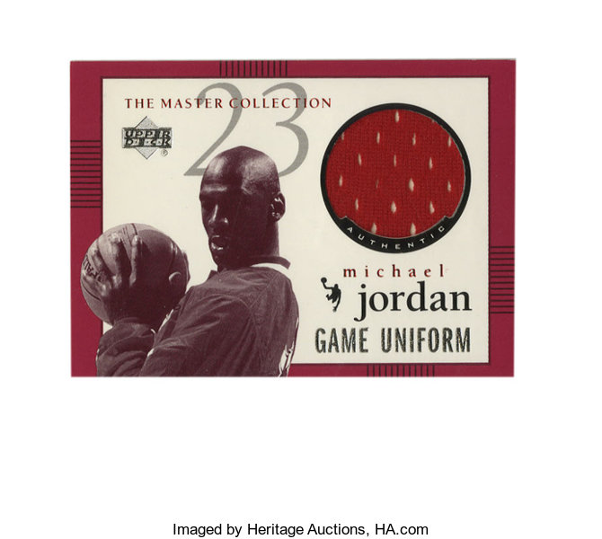 b3ea467b59e ... Basketball Collectibles:Others, 1999-00 Upper Deck MJ Master Collection Game  Jerseys ...