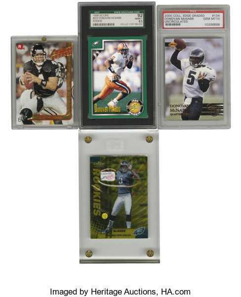 Brett Favredonovan Mcnabb Rookie Cards Lot Of 4 Four