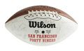 Football Collectibles:Balls, 1992 San Francisco 49ers Team Signed Football. On this souvenir San Francisco 49ers Wilson football appears the signatures ...