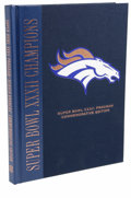 Football Collectibles:Others, John Elway Signed Super Bowl XXXII Commemorative Edition Program. Here we offer a hard-bound commemorative edition of the p...