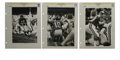 Football Collectibles:Photos, Circa 1960s Fran Tarkenton Photographs Lot of 3. From the archivesof sports photographer Ken Regan we offer this trio of v...