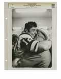 Football Collectibles:Photos, 1969 Super Bowl III Joe Namath and Father Photograph. Few can forget the bold guarantee that Joe Namath crowed in the run-u...