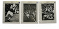 "Football Collectibles:Photos, Circa 1969 Vintage Football Photographs. Five classic images ranging from 9x12"" to 10x14"" depicting NFL clashes circa 1969...."