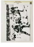 Hockey Collectibles:Photos, Circa 1969 Bobby Orr Photograph. Be it allure or scorn, theexperience of being at Madison Square Garden while Bobby Orr wa...