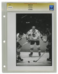 Hockey Collectibles:Photos, Circa 1970 Bobby Hull Vintage Photograph. The Golden Jet, regardedas the finest left winger to play ice hockey, is depict...