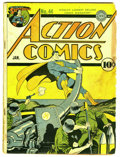 Golden Age (1938-1955):Superhero, Action Comics #44 (DC, 1942) Condition: GD-. Fred Ray cover. Art by Ray, Mort Meskin, and Bernard Baily. Overstreet 2006 GD ...