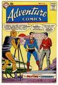 Silver Age (1956-1969):Superhero, Adventure Comics #255 (DC, 1958) Condition: VF+. First appearance of Red Kryptonite. Green Arrow appearance. Curt Swan cover...