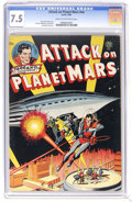 Golden Age (1938-1955):Science Fiction, Attack on Planet Mars #nn (Avon, 1951) CGC VF- 7.5 Cream tooff-white pages. To date, only three copies of this issue have b...