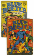 Golden Age (1938-1955):Superhero, Blue Beetle #8 and 9 Group (Fox Features Syndicate, 1941) Condition: Average GD. This group contains issues #8 and 9. Issue ... (Total: 2 Comic Books)