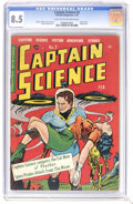 Golden Age (1938-1955):Science Fiction, Captain Science #2 (Youthful Magazines, 1951) CGC VF+ 8.5 Light tanto off-white pages. Robot cover. Walter Johnson cover an...