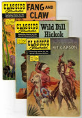 """Golden Age (1938-1955):Classics Illustrated, Classics Illustrated Group (Gilberton, 1952-68) Condition: AverageVG. Contains #1 (""""The Three Musketeers"""", HRN 167), #2 (""""I...(Total: 11 Comic Books)"""