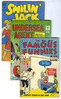 Golden Age (1938-1955):Miscellaneous, Dell Mixed Group (Dell, 1948-66) Condition: Average GD. Lot consists primarily of funny animal Dell titles including P... (Total: 93)