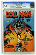 Golden Age (1938-1955):Superhero, Doll Man Quarterly #5 (Quality, 1943) CGC VF- 7.5 Off-white to white pages. A six-inch hero is a cover artist's dream come t...