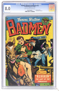 Famous Western Badmen #13 (Youthful Magazines, 1952) CGC VF 8.0 Light tan to off-white pages. First issue of the title...
