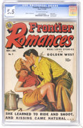 Golden Age (1938-1955):Romance, Frontier Romances #1 (Avon, 1949) CGC FN- 5.5 Tan to off-whitepages. Airbrushed cover. Spanking panel cited in Seduction ...