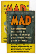 Magazines:Mad, Mad #17 and 18 Group (EC, 1954) Condition: GD/VG. Jack Davis, BillElder, and Wally Wood art in both. Issue #17 also feature...(Total: 2 Comic Books)