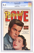 Golden Age (1938-1955):Romance, Personal Love #20 (Famous Funnies, 1953) CGC VF+ 8.5 Cream tooff-white pages. Kathleen Crowley and Bob Wagner photo cover a...