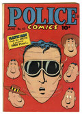 Golden Age (1938-1955):Superhero, Police Comics #43 (Quality, 1945) Condition: FN-. Jack Cole cover. Plastic Man by Cole. The Spirit by Will Eisner and Lou Fi...