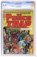 Golden Age (1938-1955):Crime, Police Trap #1 (Charlton, 1954) CGC VF 8.0 Cream to off-white pages. Cover art by two comic book legends, Joe Simon and Jack...