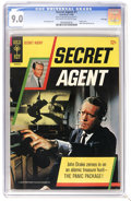Silver Age (1956-1969):Adventure, Secret Agent #1 File Copy (Gold Key, 1966) CGC VF/NM 9.0 Off-white to white pages. Patrick McGoohan photo cover. Photo pin-u...
