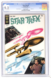 Star Trek #4 File Copy (Gold Key, 1969) CGC NM- 9.2 Off-white pages. Photo Cover. Alberto Giolitti art. Overstreet 2006...