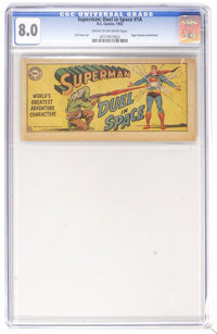 Superman #1A - Duel in Space (DC, 1955) CGC VF 8.0 Cream to off-white pages. Sugar Smack promotional. Curt Swan art. Ove...